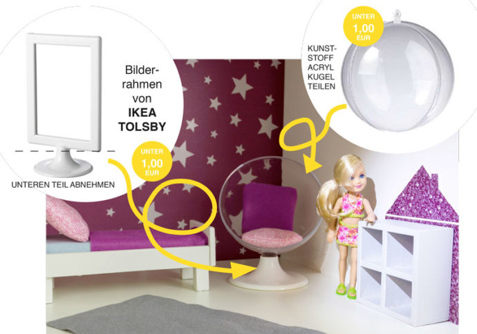barbie m bel selber bauen stylischen sessel aus ikea. Black Bedroom Furniture Sets. Home Design Ideas