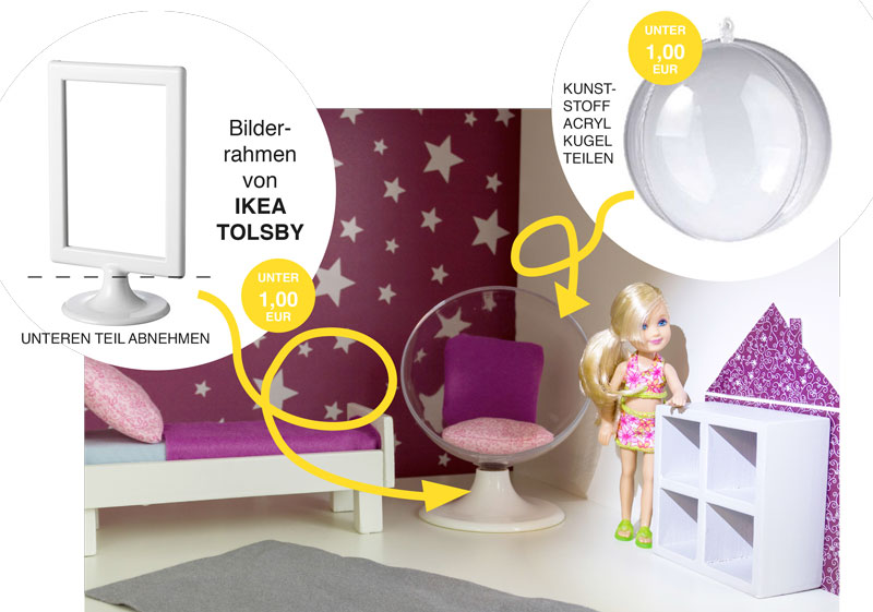 barbie m bel selber bauen stylischen sessel aus ikea bilderrahmen. Black Bedroom Furniture Sets. Home Design Ideas