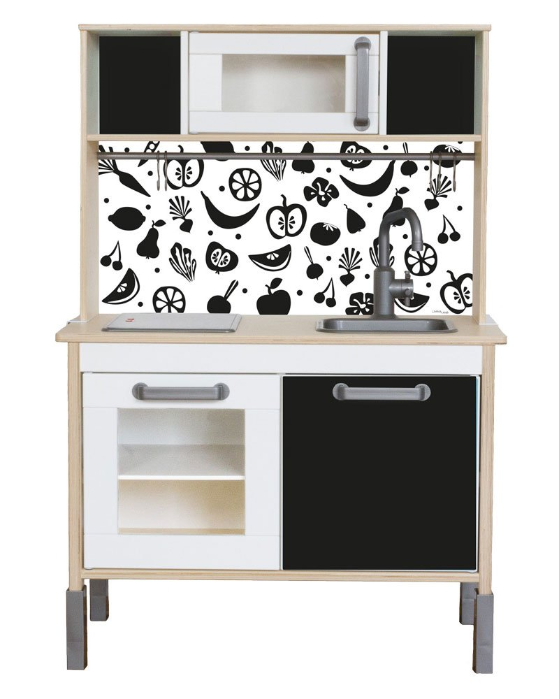ikea kinderkueche aufpeppen mit fruktig folie limmaland blog. Black Bedroom Furniture Sets. Home Design Ideas