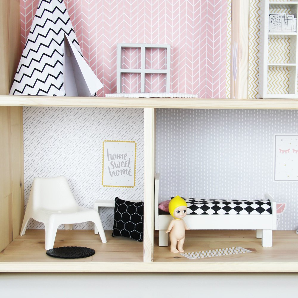 ikea b gelperlen und damit miffy teppich f r puppenhaus basteln. Black Bedroom Furniture Sets. Home Design Ideas