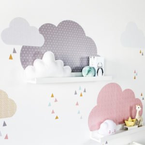 ikea kinderhochbett pimpen wandtattoo wolken limmaland blog. Black Bedroom Furniture Sets. Home Design Ideas
