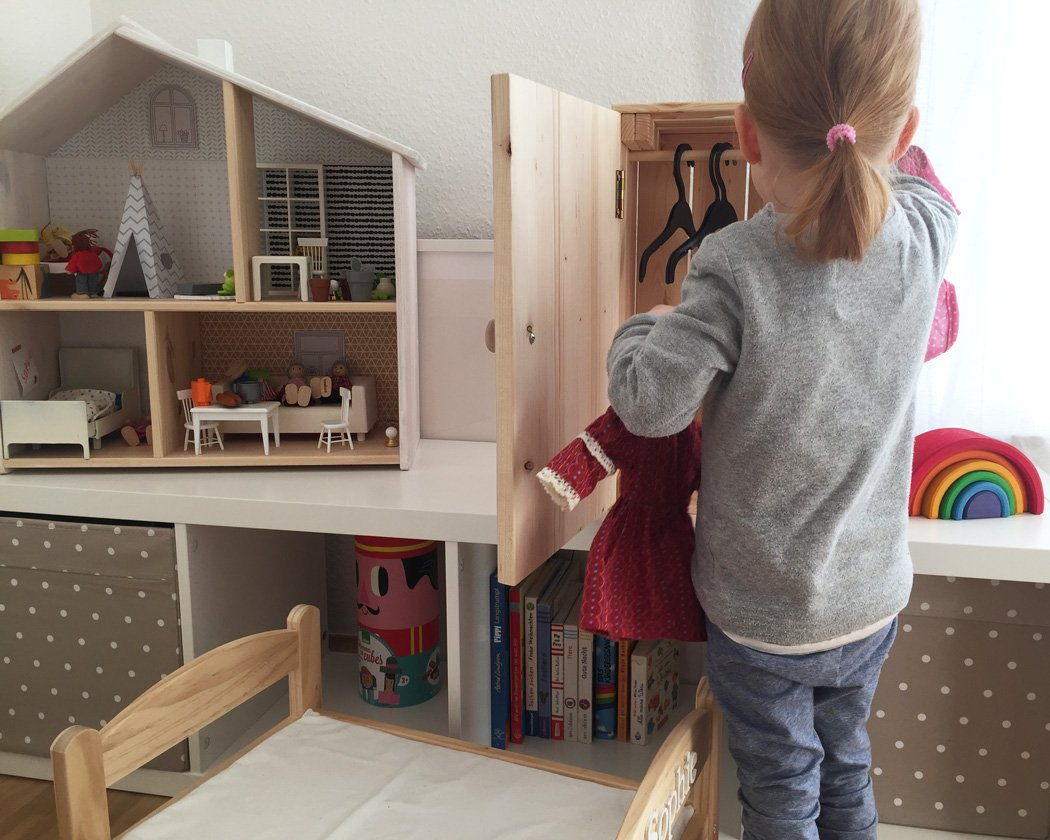 puppenschrank selber bauen mit ikea box 8 limmaland blog. Black Bedroom Furniture Sets. Home Design Ideas