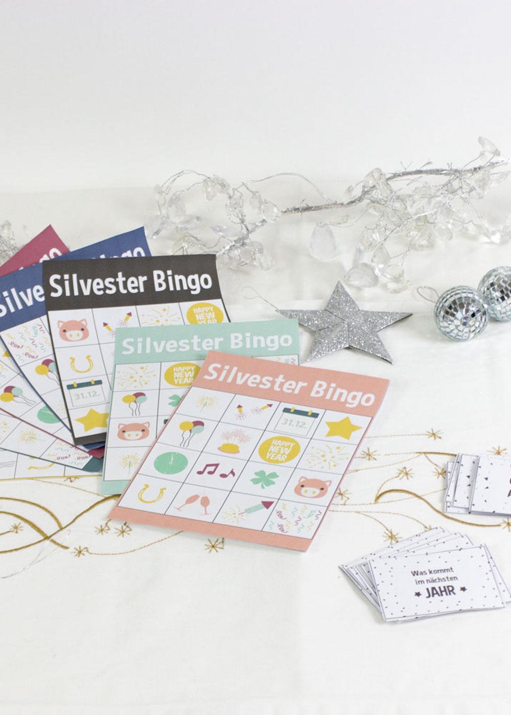 Bastelset Silvester mit Kindern - Bingo