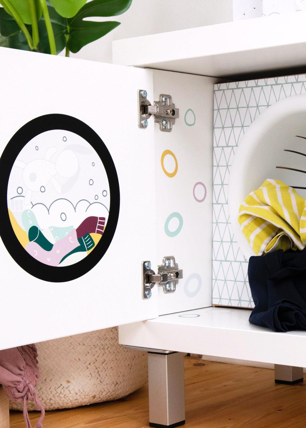 Kinderwaschmaschine Saubafix Teilansicht Waschmaschine innen