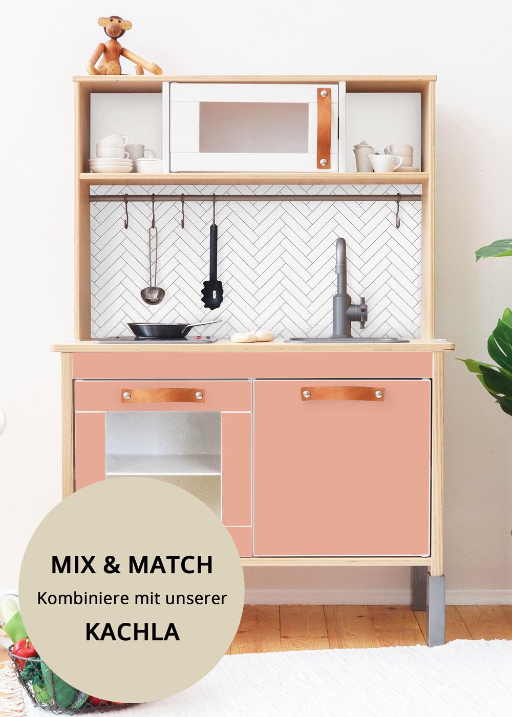 Ikea Duktig Kinderküche Frontli Rosa Frontansicht klein
