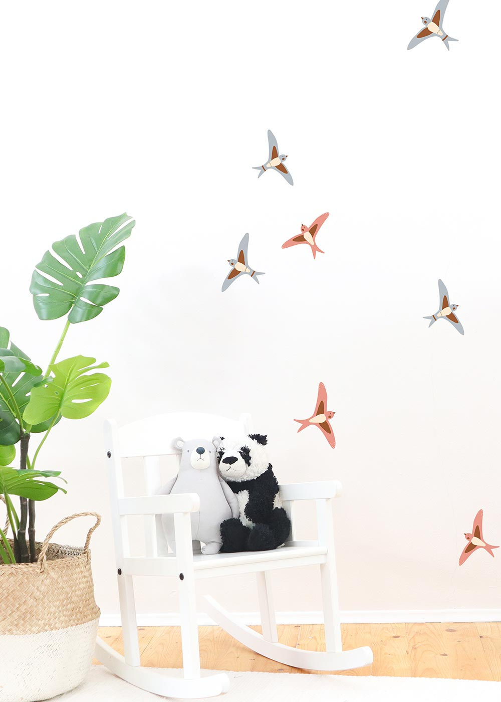 Wandtattoo Vögel Wandgestaltung im Kinderzimmer Camel Ausschnitt