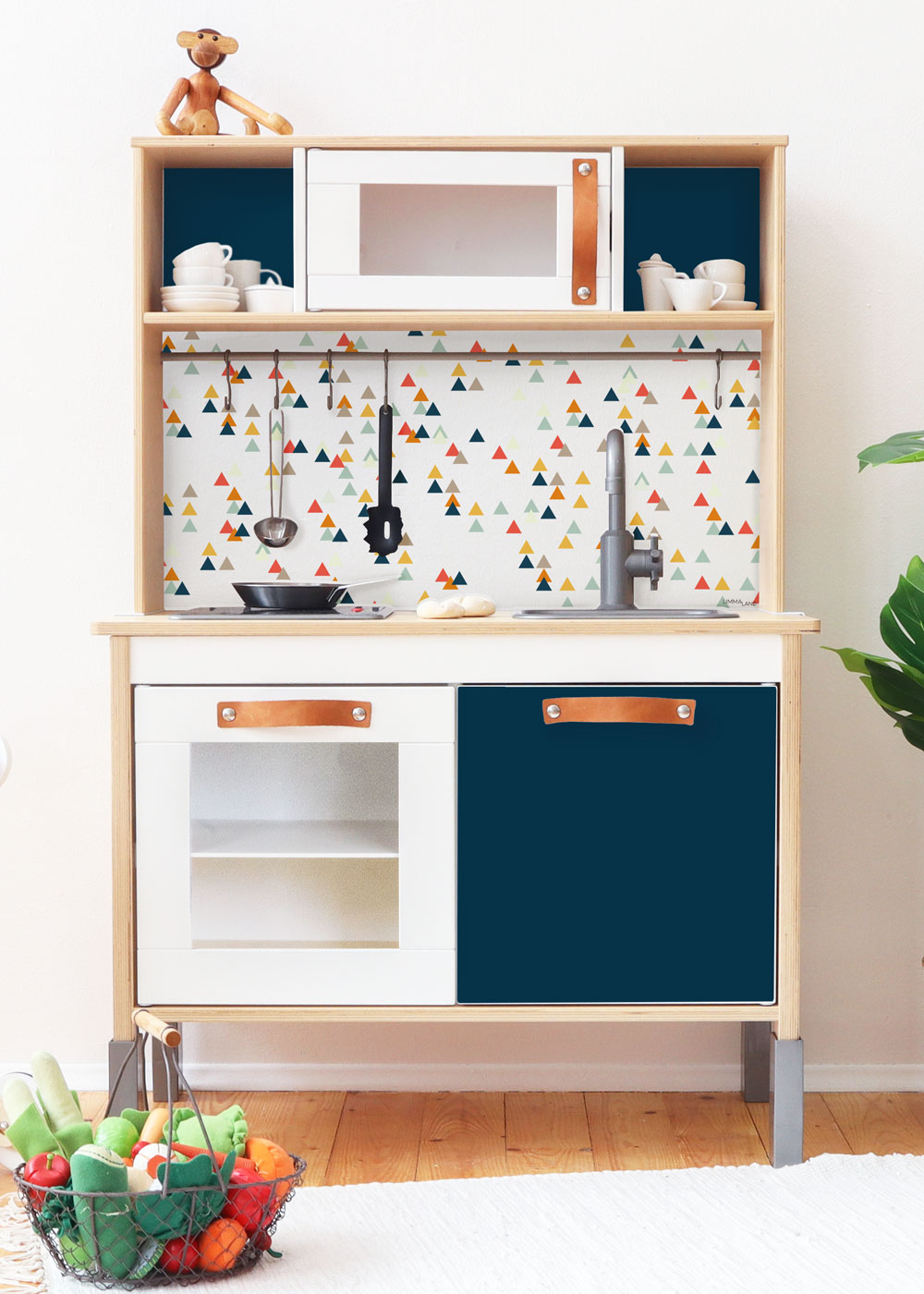 Ikea Duktig Kinderküche Trianglig Dunkelblau