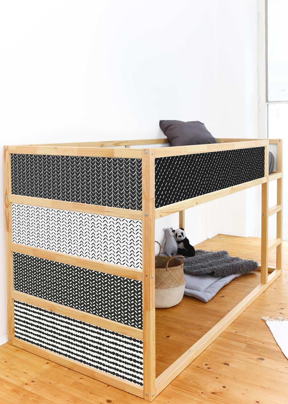 Ikea Kuras Hochbett Musta schwarz Seitenansicht