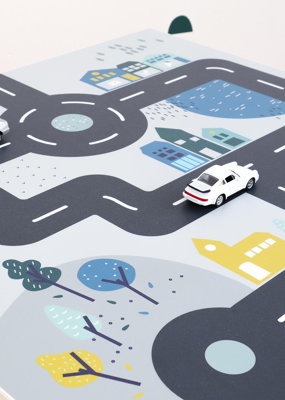 Klebefolie Ikea Lätt Smastraat Detailansicht mit Kreisverkehr