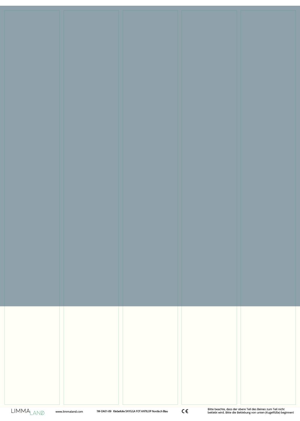 Stuhlbeinklebefolie Antilop Nordisch blau Druckvorlage