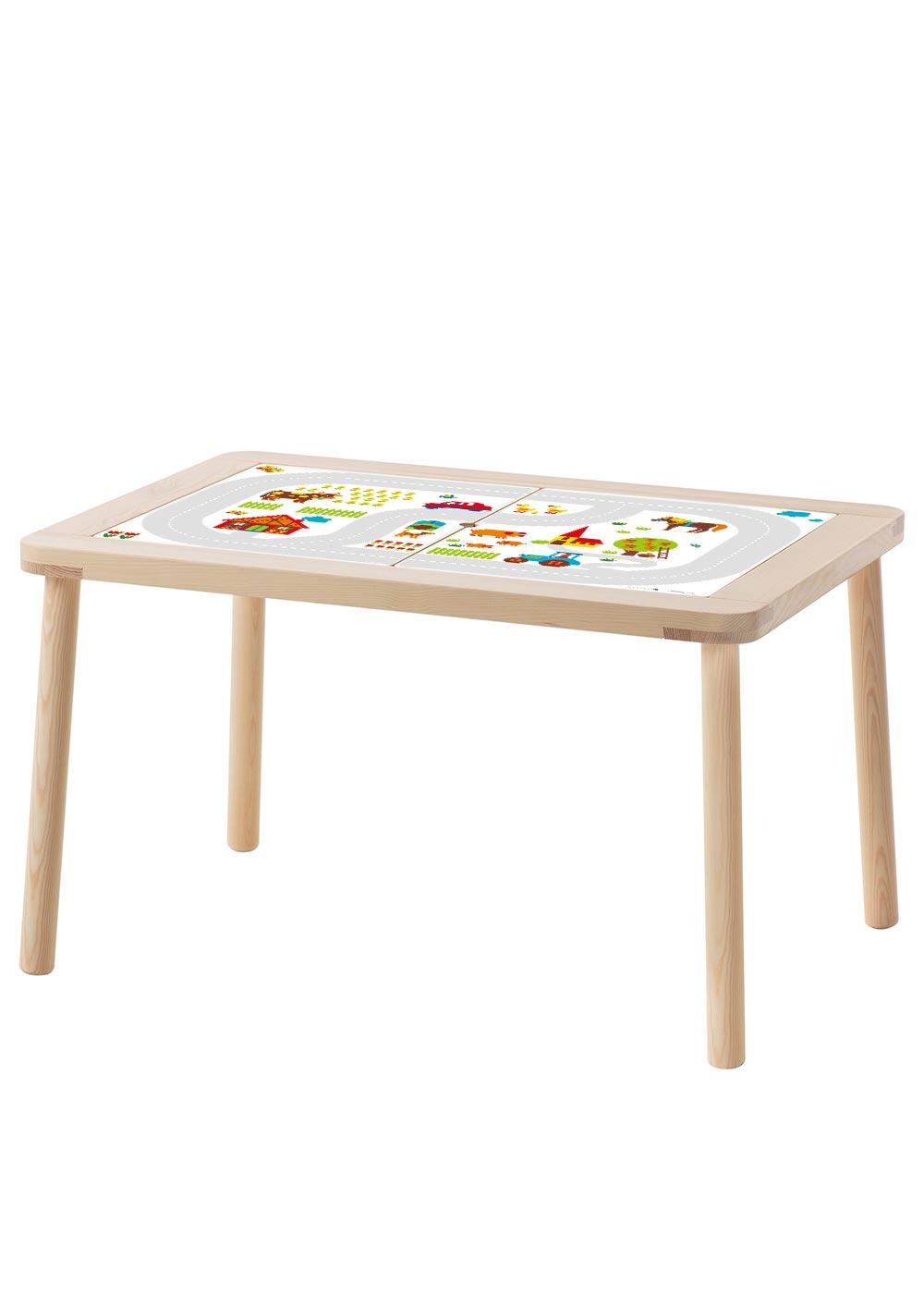 Ikea Flisat Kindertisch ByGraziela Bauernhof Komplettansicht Tisch