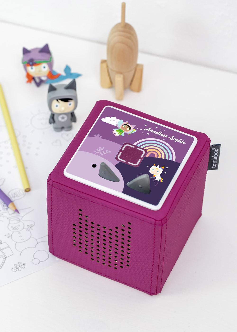 dekofolie toniebox regenbogen personalisiert kindername 3