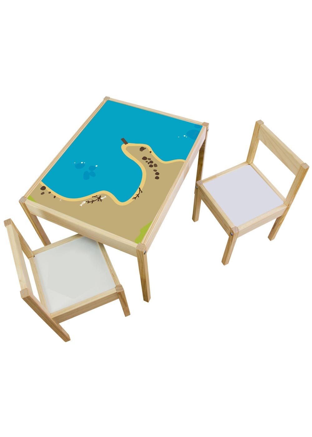Ikea Lätt Kindertisch Wasserreich Komplettansicht
