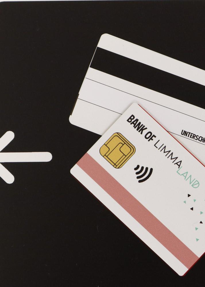 Stickerset Zubehör Ikea Kaufladen Kassa schwarz Detailansicht Kreditkarten