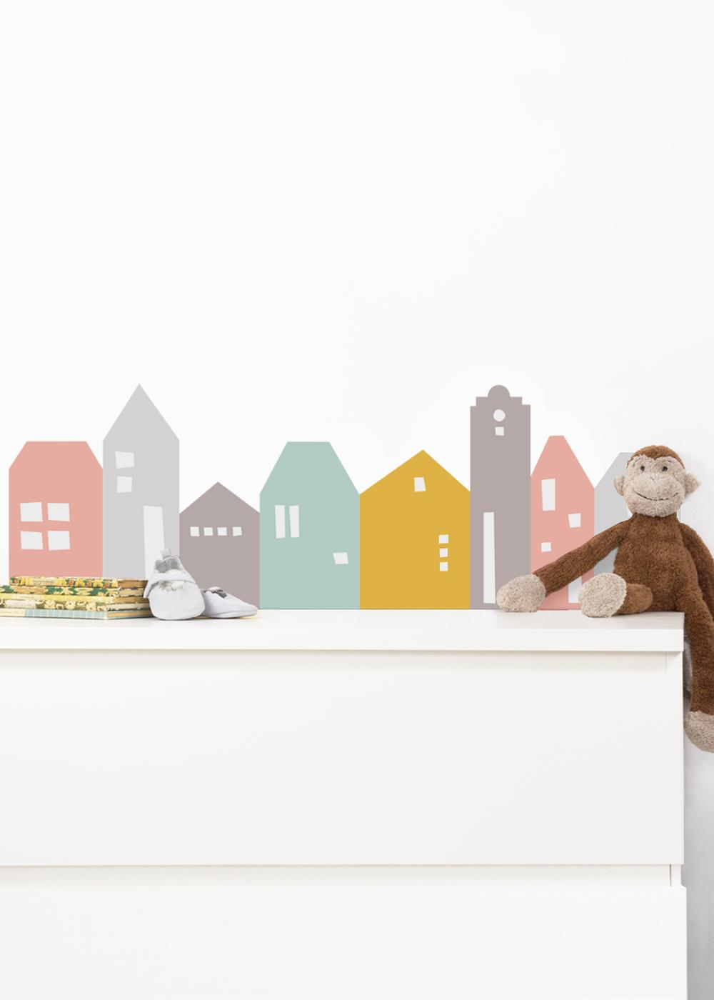 Ikea Mansarp Bilderleiste Lille Hus Rosa hellgrau Gesamtansicht
