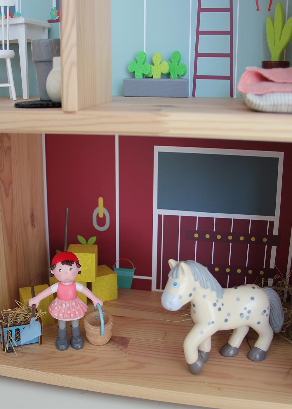 Ikea Flisat Puppenhaus Tapete Ponny Hus Teilansicht Pferd