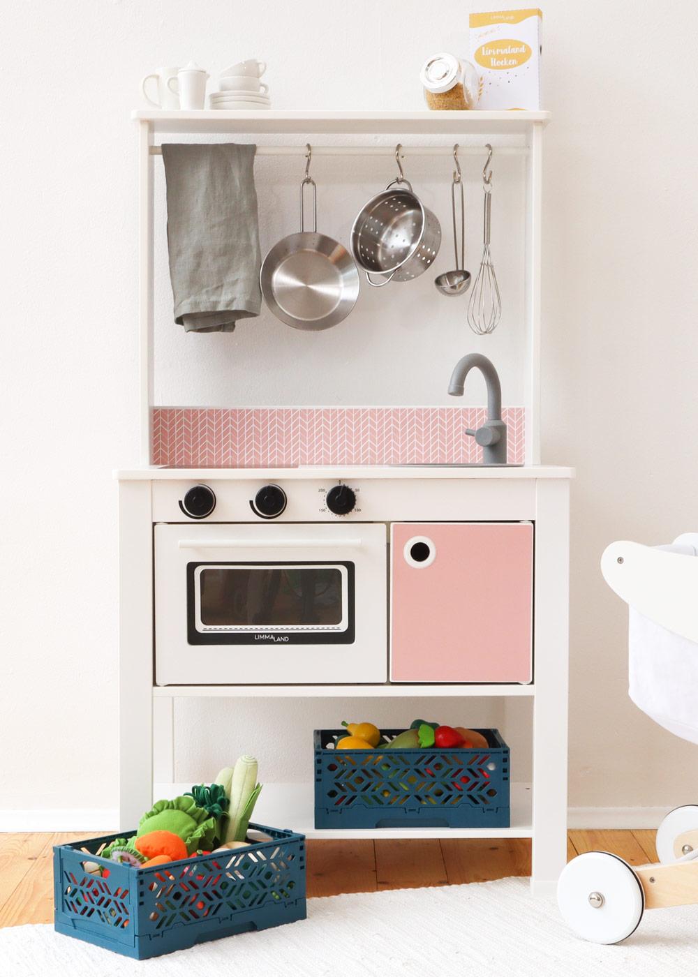 Ikea Spisig Kinderküche Skandig Rosa Gesamtansicht