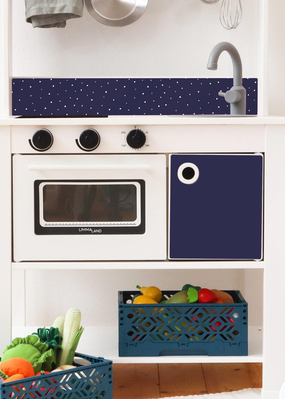 Ikea Spisig Kinderküche Tüpfelig Nachtblau Teilansicht