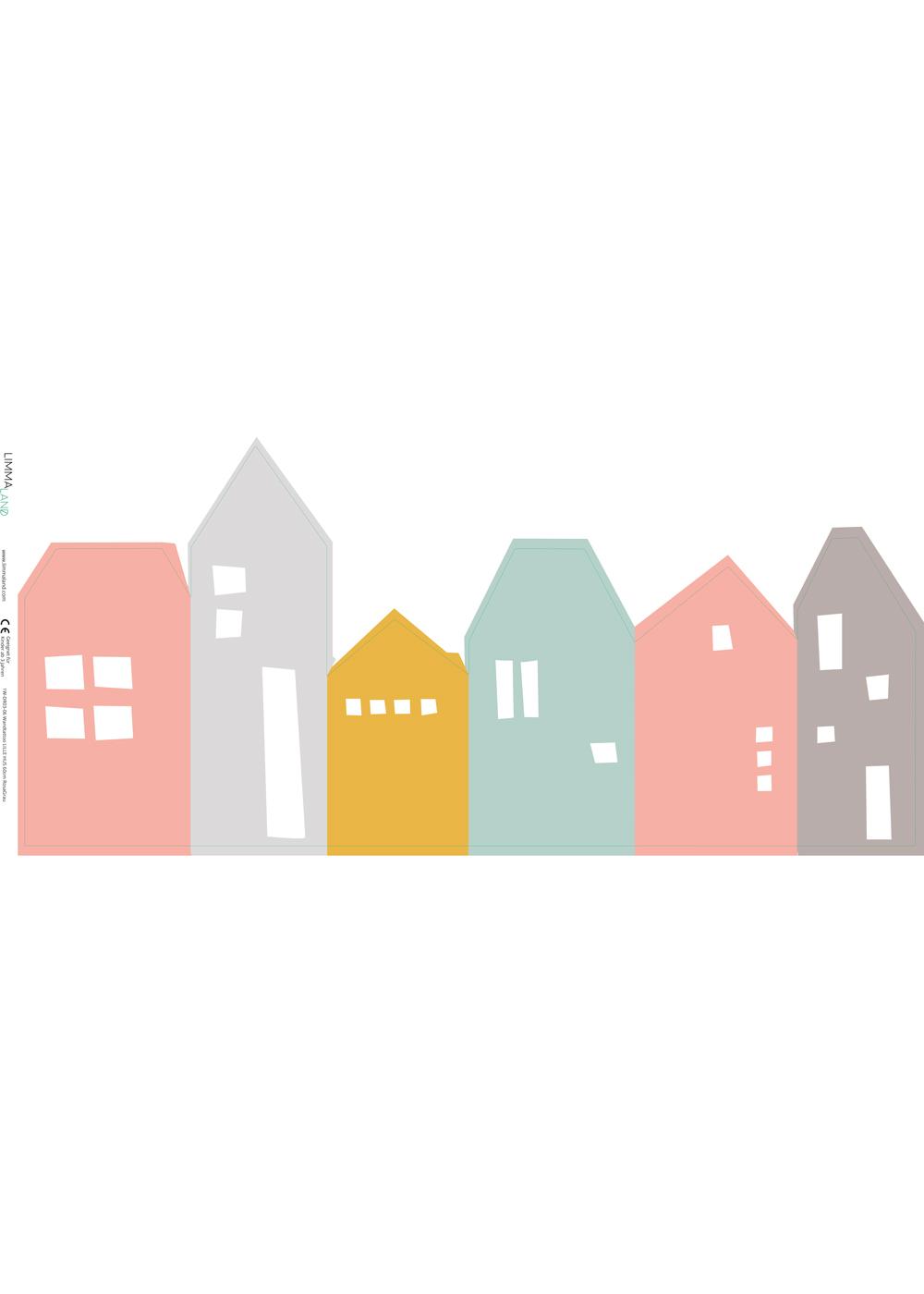 Ikea Malmbäck Bilderleiste Lille Hus rosa hellgrau Druckvorlage