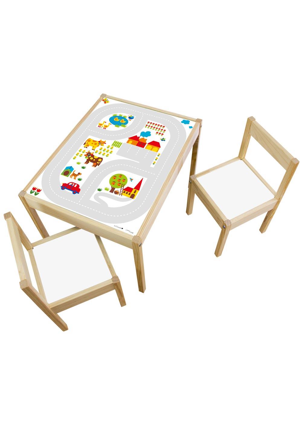 Ikea Lätt Kindertisch ByGraziela Bauernhof Gesamtansicht