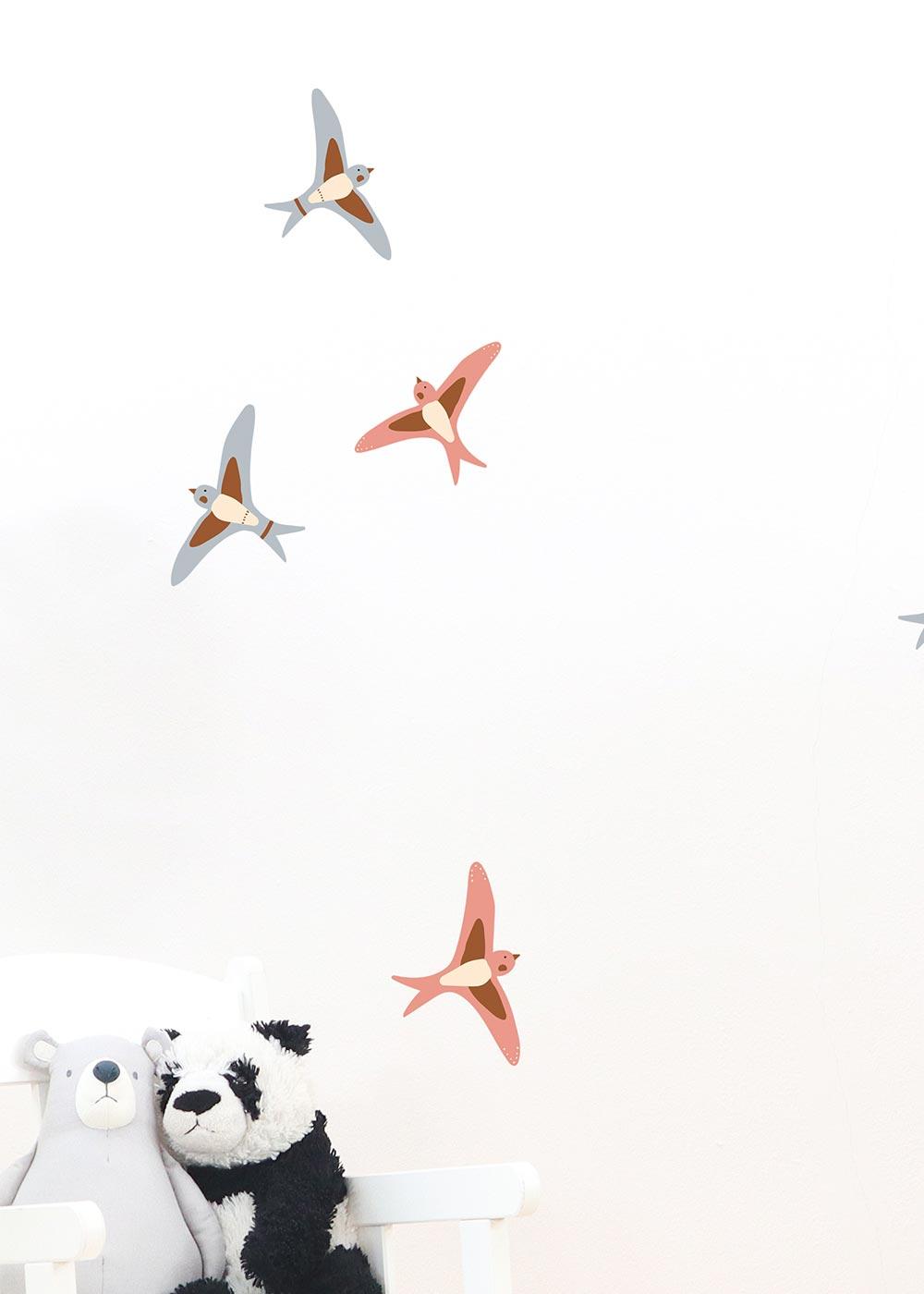 Wandtattoo Vögel Wandgestaltung im Kinderzimmer Camel Detailansicht