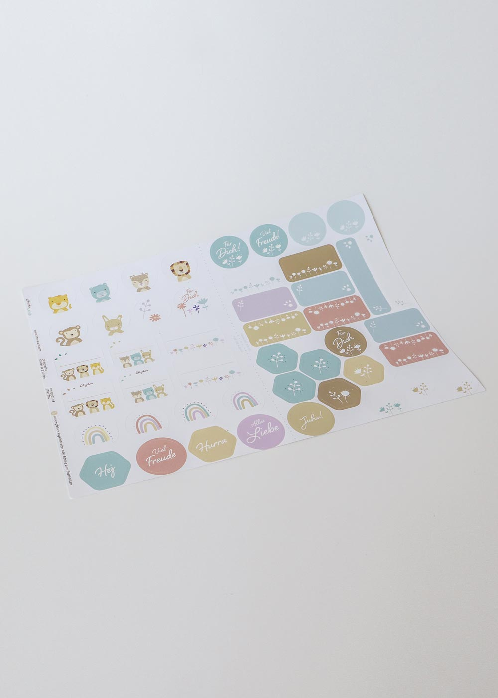Stickerset Ikea Etiketta Komplettansicht