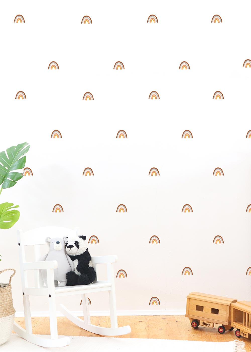 Wandtattoo Regenbögen Wandgestaltung im Kinderzimmer Camel