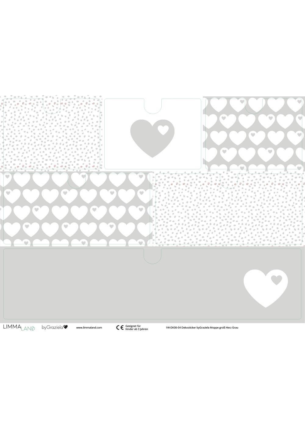 Klebefolie Ikea Moppe ByGraziela grau Herz Druckvorlage