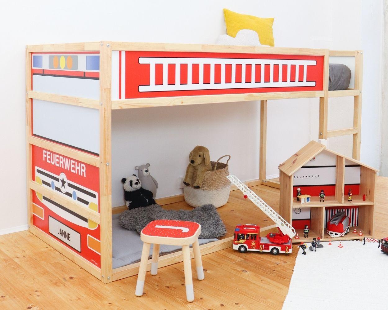 Kinderzimmer Feuerwehr Kinderbett