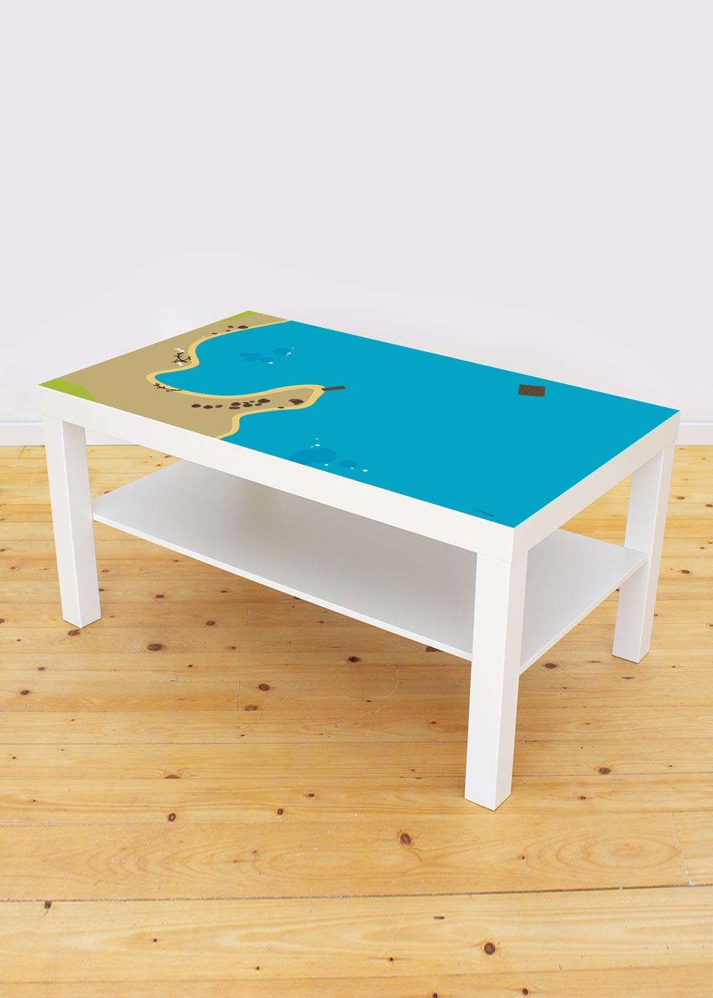 Ikea Lack Couchtisch Wasserreich 55x90 Gesamtansicht