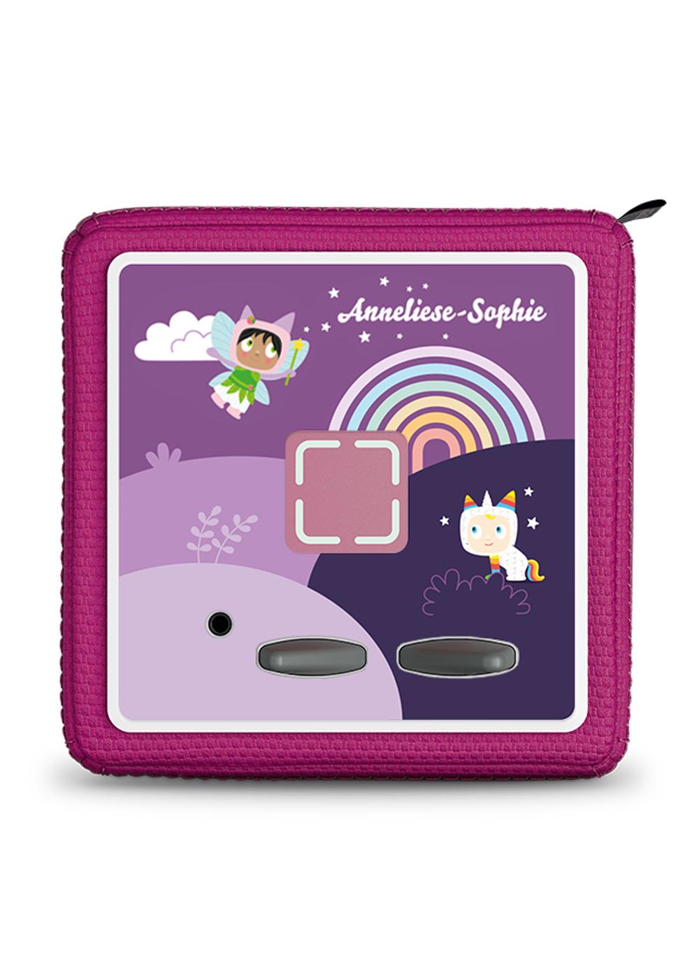 dekofolie toniebox regenbogen personalisiert kindername 1