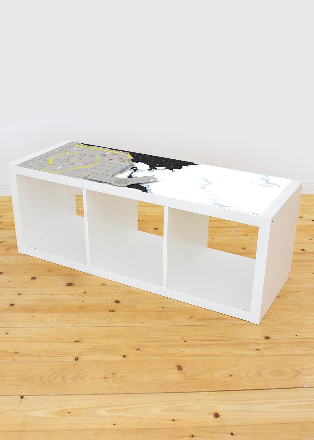 Ikea Kallax Regal Weltraum 3fach Komplettansicht