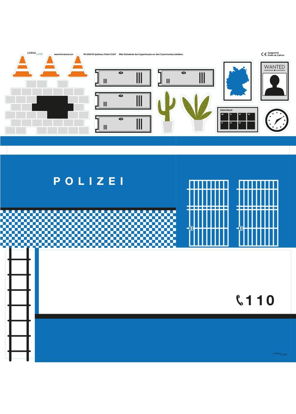Ikea Flisat Puppenhaus Tapete Polizei Druckvorlage