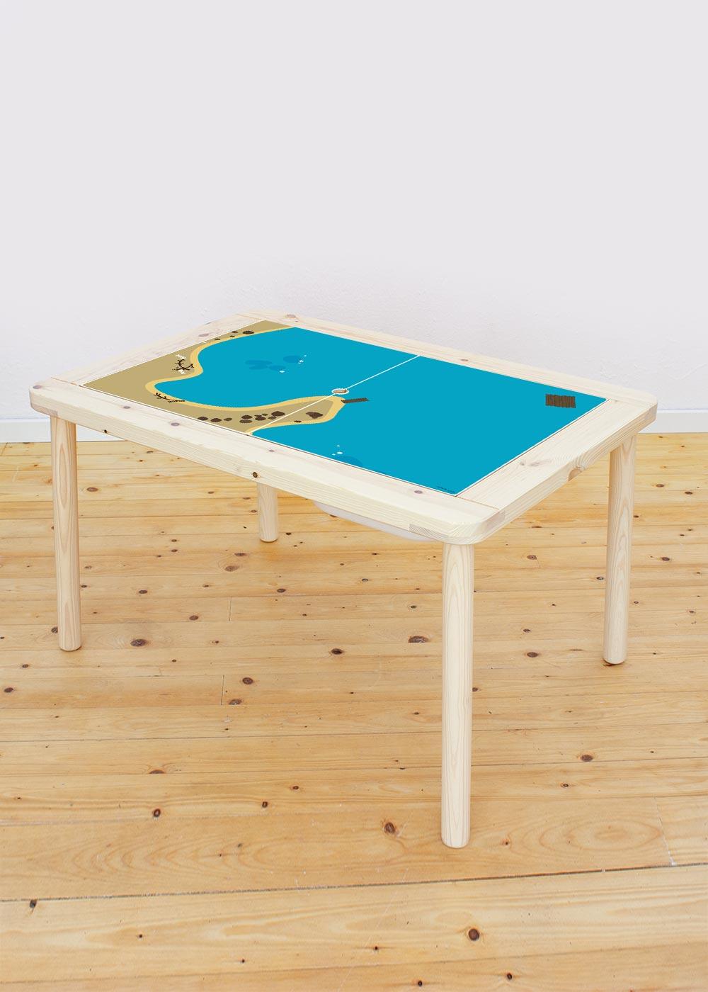 Ikea Flisat Kindertisch Wasserreich Tischplatte