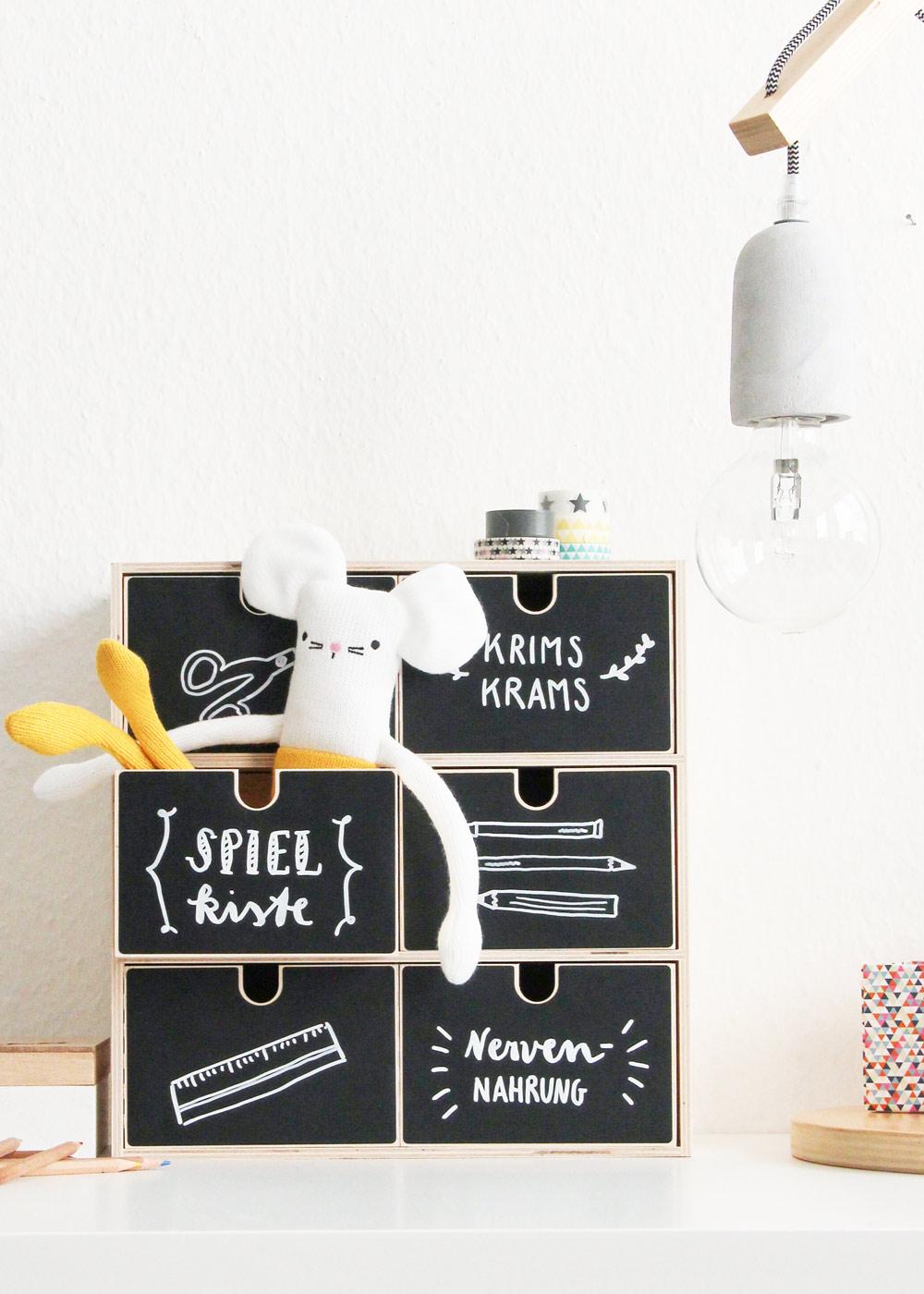 Ikea Moppe Mini Kommode Kreidereich Detailansicht vorne