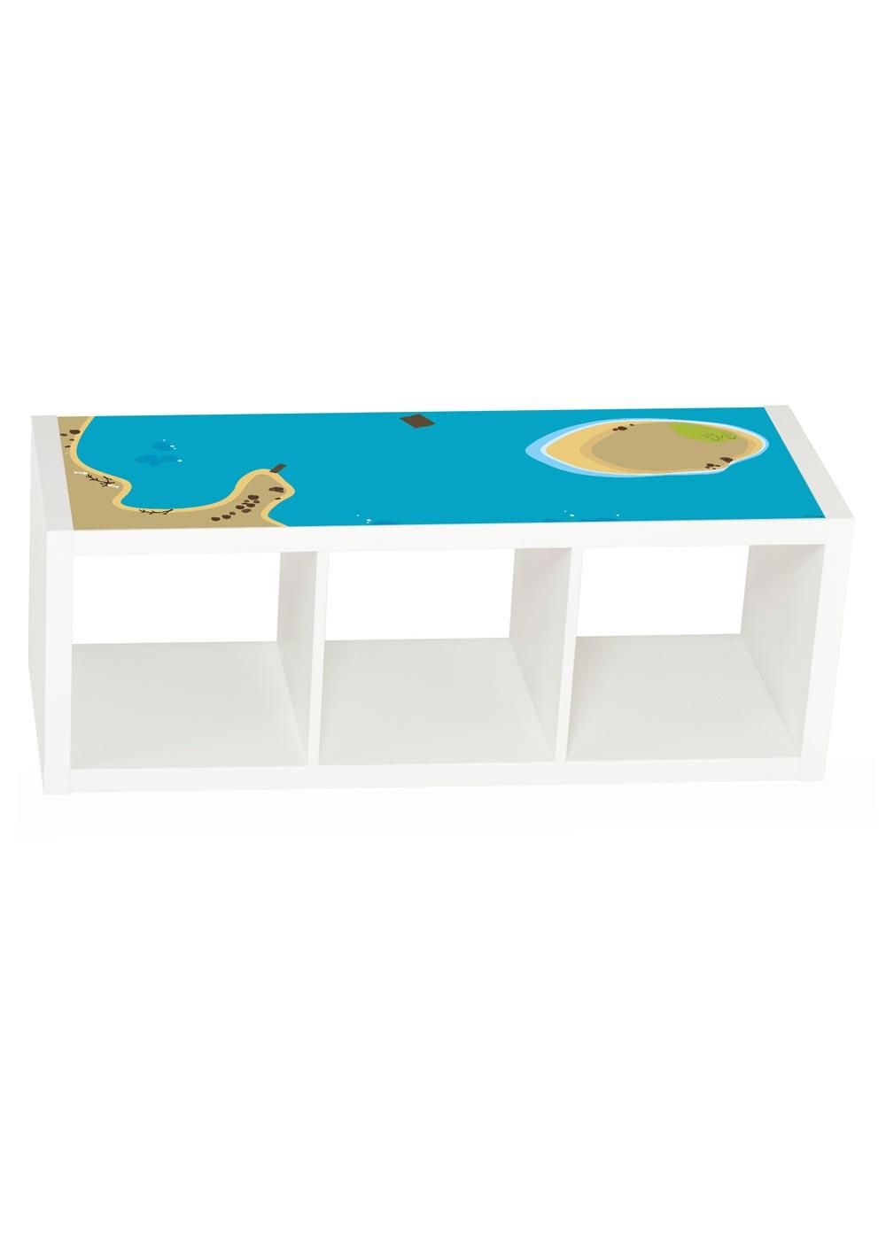 Ikea Kallax Regal Wasserreich 3fach Frontansicht