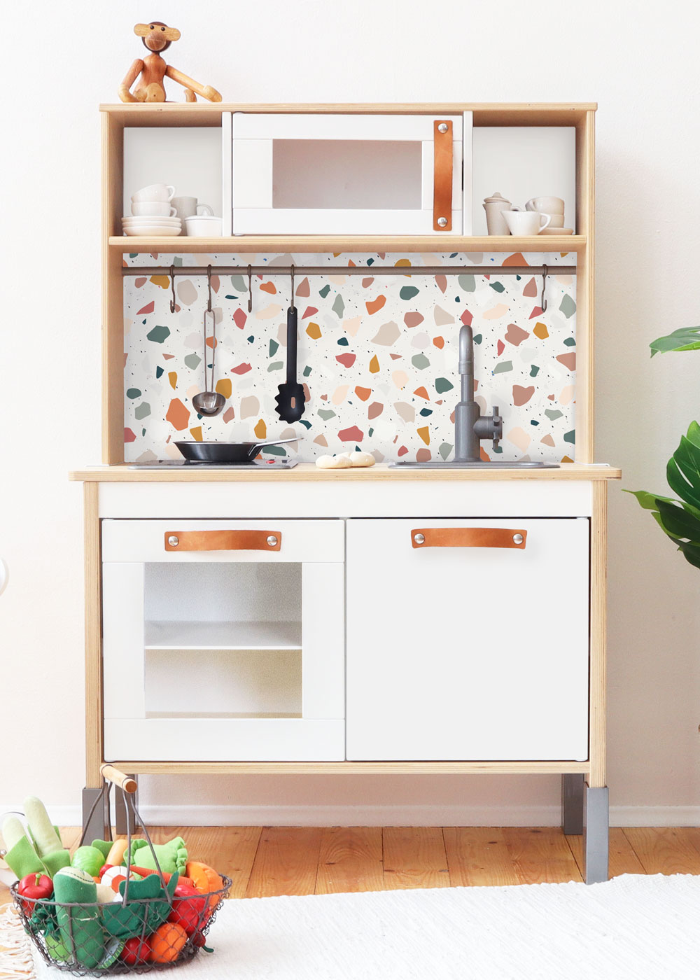 Ikea Duktig Kinderküche Kachla Terrazzo Rost Rosa Fronantsicht