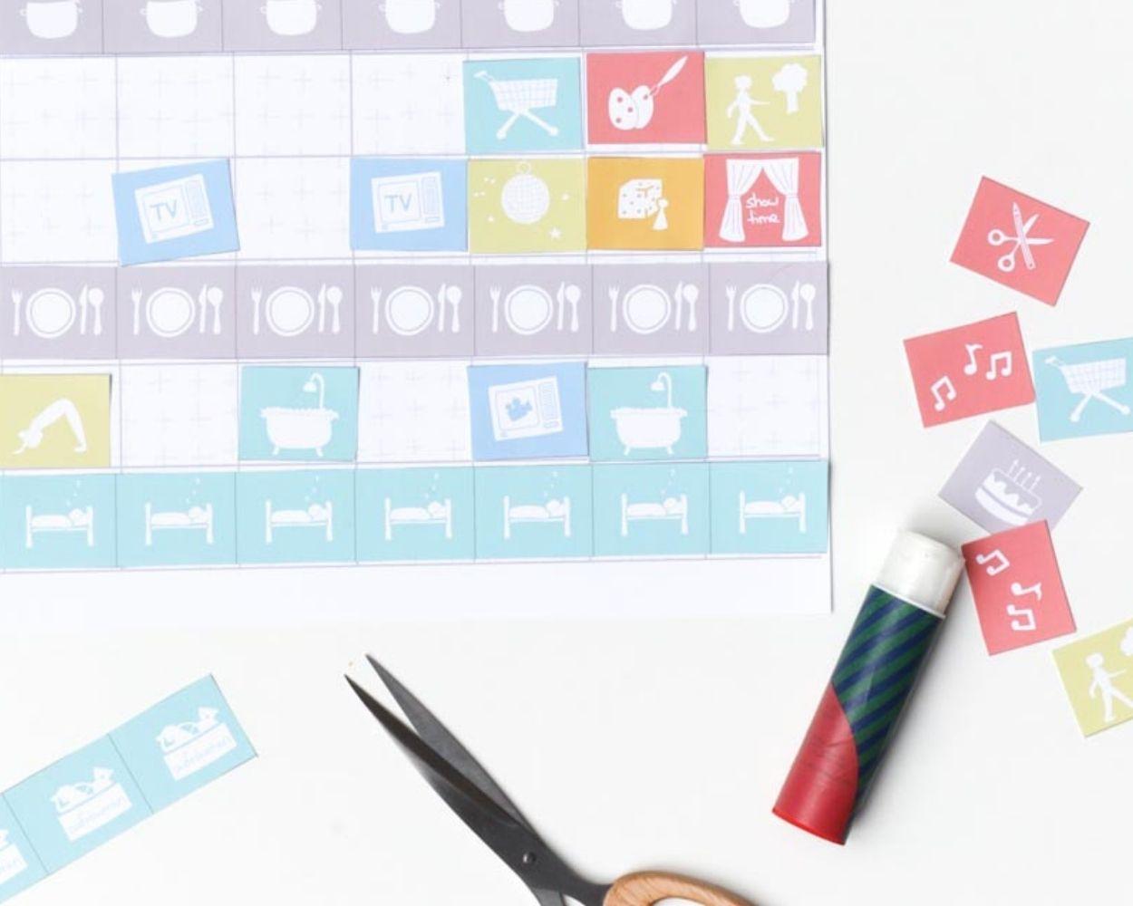 Rütmus Wochenplan Kinder Gestaltung