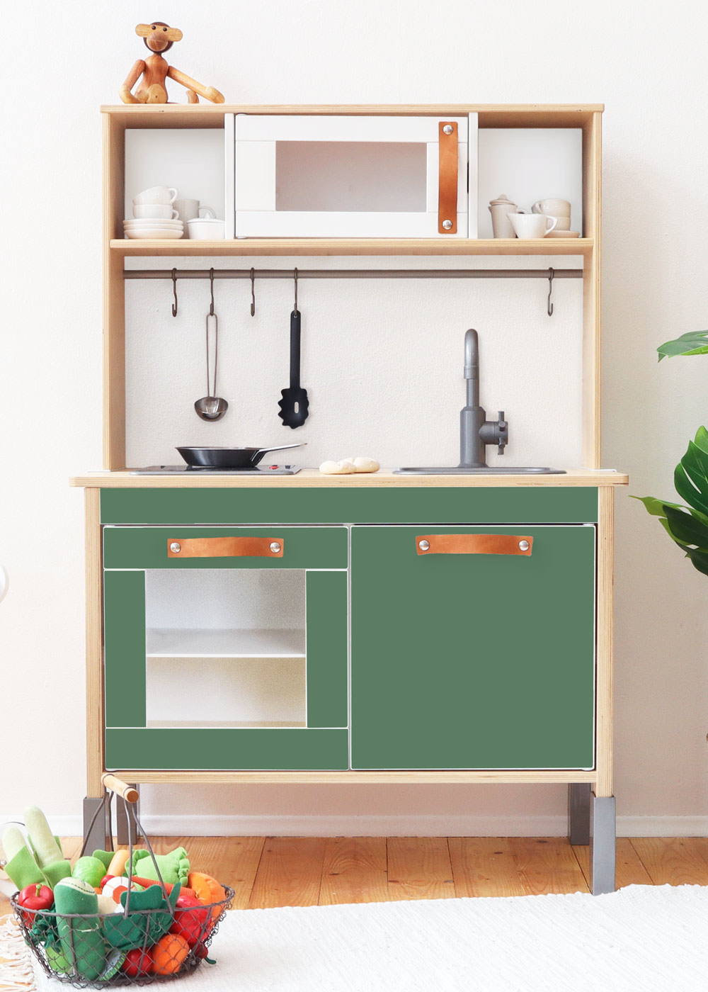 Ikea Duktig Kinderküche Frontli Immergrün Frontansicht