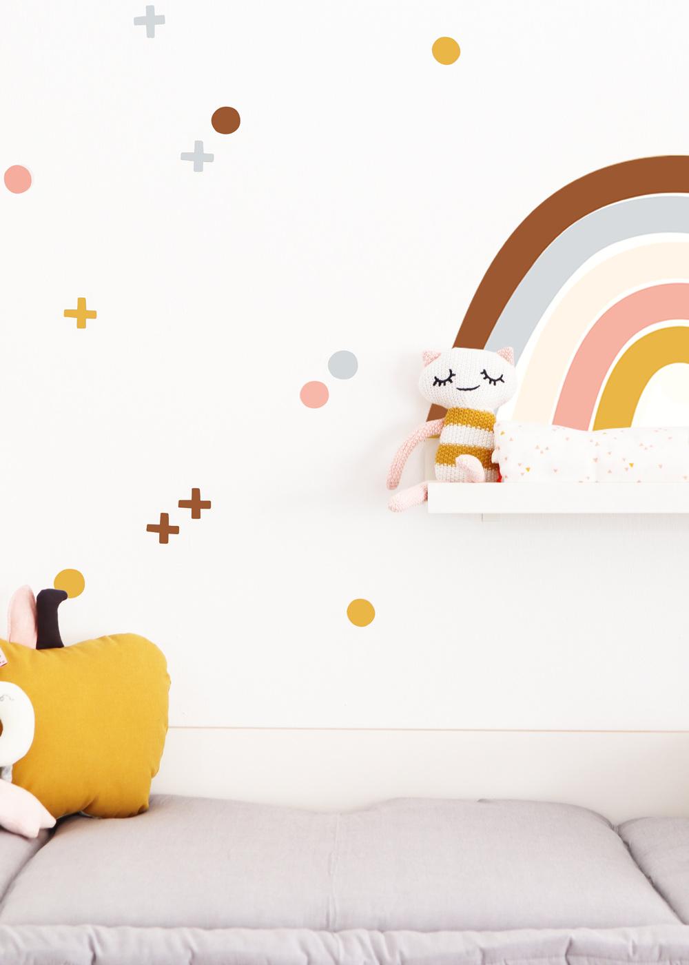 Ikea Mosslanda Bilderleiste Vielfalt Regenbogen Camel rose Teilansicht