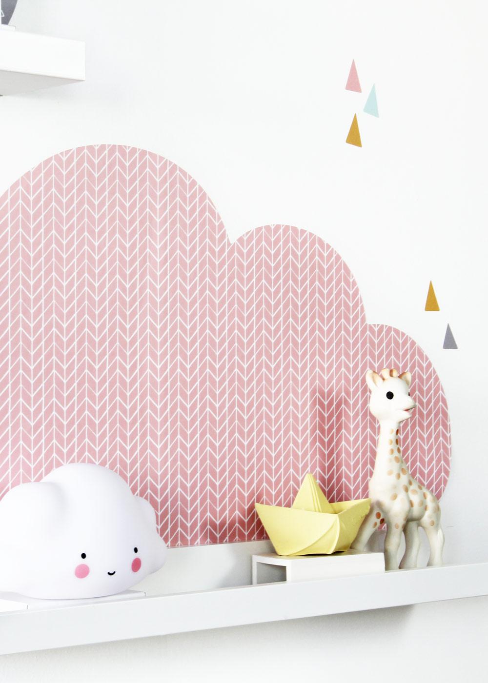 Ikea Mosslanda Bilderleiste Musta Wolken rosa taupe Teilansicht Wolke