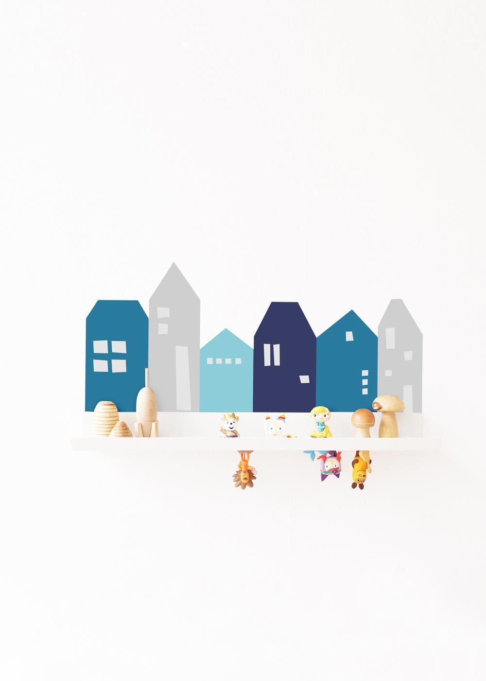 Ikea Malmbäck Bilderleiste Lille Hus hellgrau Gesamtansicht