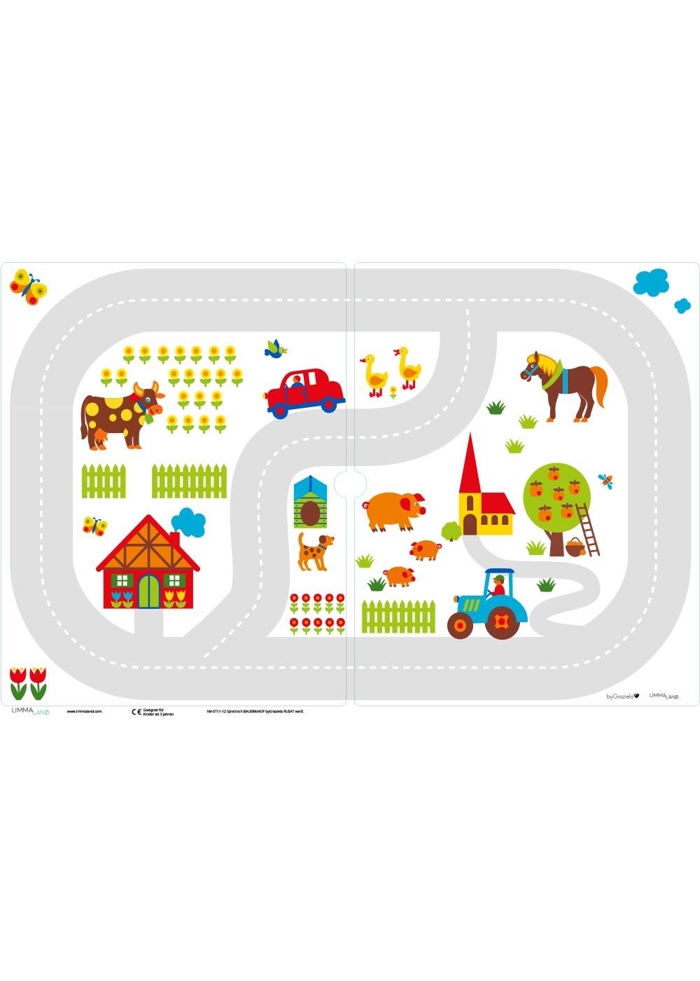 Ikea Flisat Kindertisch ByGraziela Bauernhof Druckvorlage