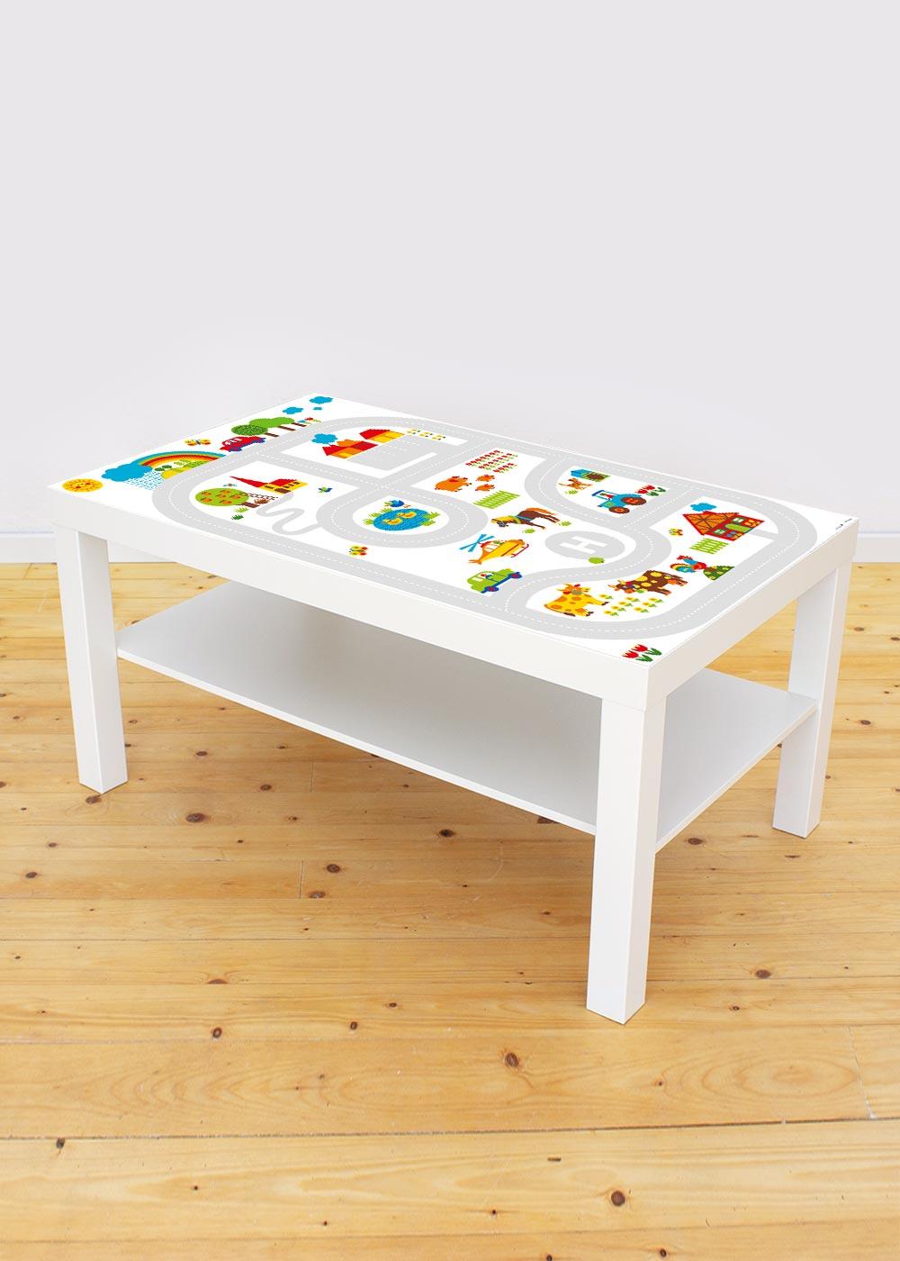 Ikea Lack Couchtisch ByGraziela Bauernhof 78x118 Gesamtansicht
