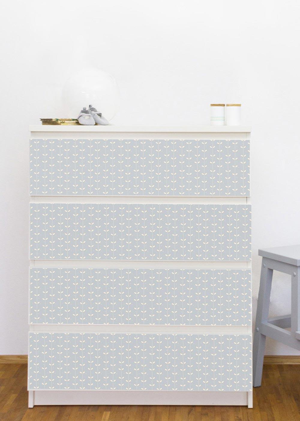 Ikea Malm Kommode Ährig Eisblau Gesamtansicht