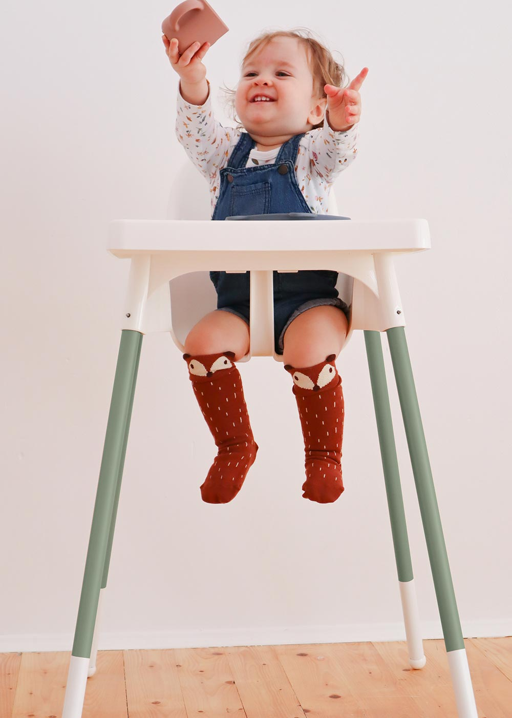 Ikea Antilop Hochstuhl Snygga Fot Eukalyptus Komplettansicht