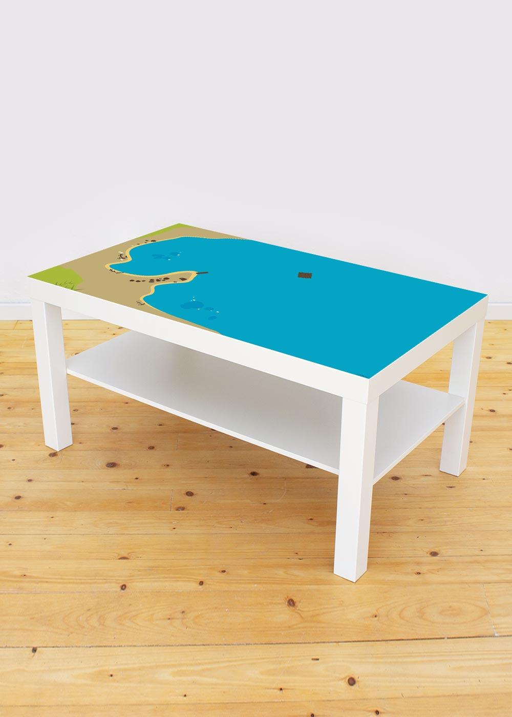 Ikea Lack Couchtisch Wasserreich 78x118 Komplettansicht