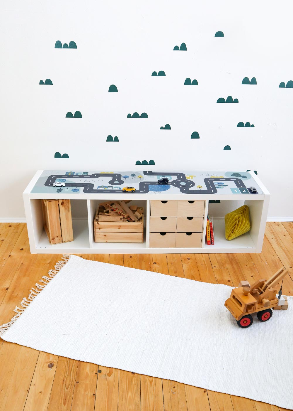 Ikea Kallax Regal Smastraat 4fach Frontansicht