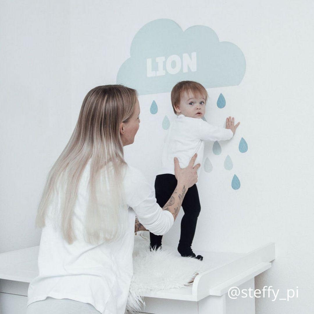 Babyzimmer mit Wolken
