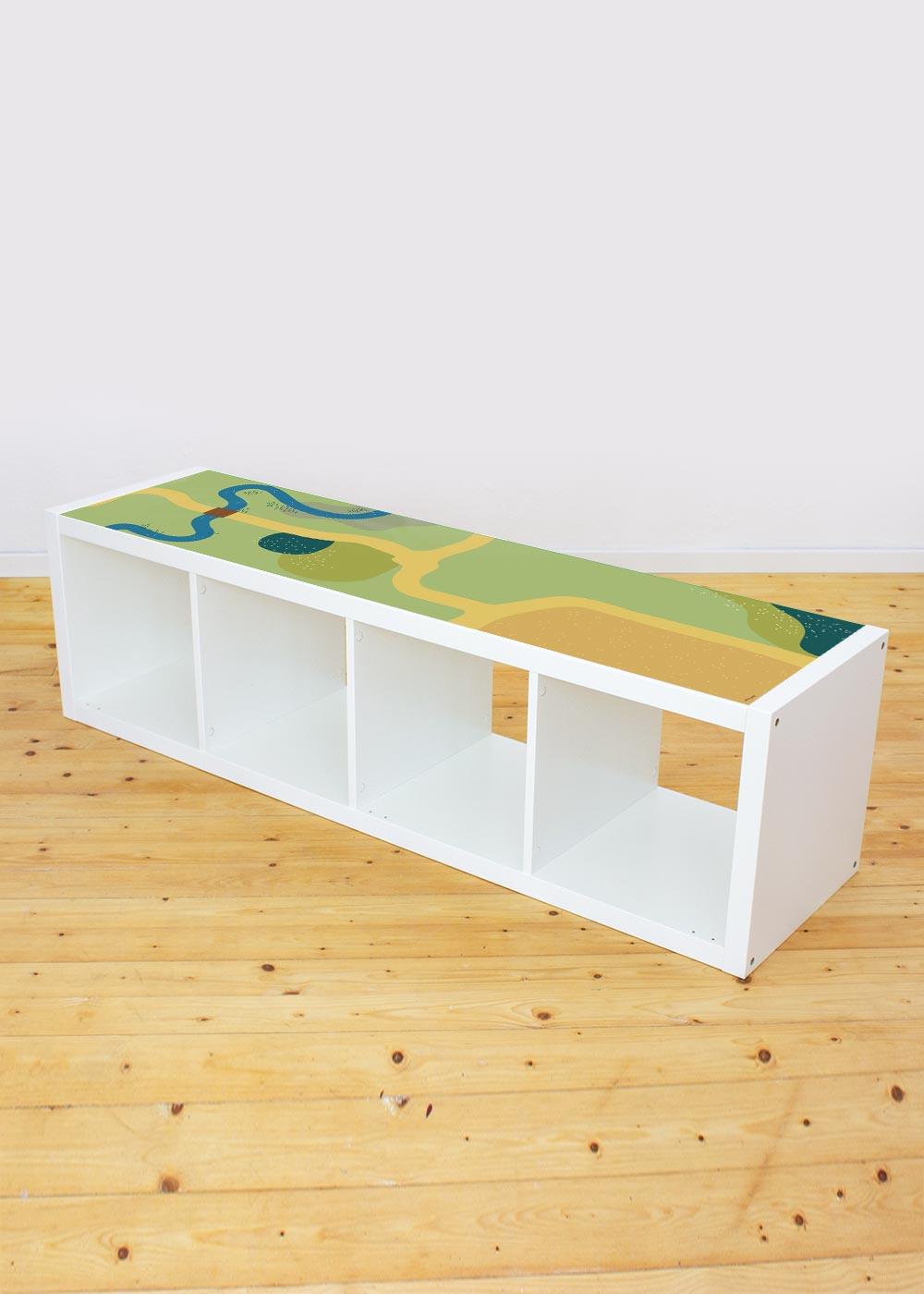 Ikea Kallax Regal Spielwiese 4fach Komplettansicht